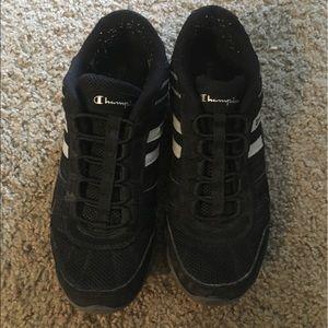 Champion black slide on tennis shoes size 9